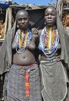 Two Arbore girls in southern Ethiopia