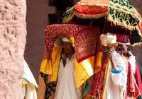 Timket festival at Bet Gabriel Church in Lalibela