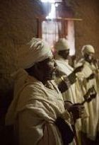 Morning Service in Bet Gabriel Church in Lalibela